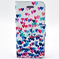Недорогие Кейсы для iPhone 4s / 4-Коко fun® красочным узором сердце ПУ кожаный чехол с защитой экрана и USB-кабель и стилус для iPhone 4 / 4s
