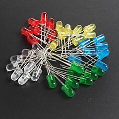 billige Dioder-led5mm røde, grønne, blå og gule lysdioder 10 hver, i alt 50stk