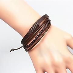 Heren Armband Lederen armbanden Uniek ontwerp Modieus Europees Kostuum juwelen Leder Sieraden Sieraden Voor Kerstcadeaus