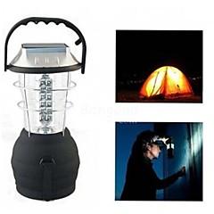 LS040 Outdoor Solar 36LEDS Hand Crank Dynamo Camping Lantern Light Lamp(Black)