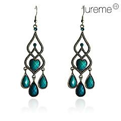 preiswerte Ohrringe-Damen Türkis Tropfen-Ohrringe - Sterling Silber, Türkis Grün Für Party / Alltag