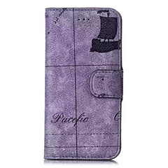 Недорогие Кейсы для iPhone 6 Plus-Кейс для Назначение Apple iPhone 6 iPhone 6 Plus Бумажник для карт Кошелек со стендом Флип С узором Чехол Пейзаж Твердый Кожа PU для