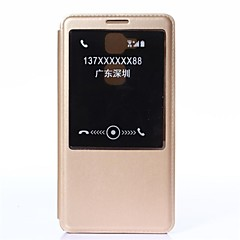 Недорогие Чехлы и кейсы для Huawei Mate-Для Кейс для Huawei со стендом / с окошком / С функцией автовывода из режима сна / Флип Кейс для Чехол Кейс для Один цвет Твердый