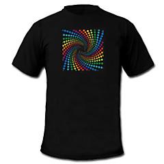 LED t-paidat Ääniaktivoidut LED valot Tekstiili Tyylikäs 2 AAA paristot