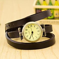 お買い得  レディース腕時計-女性用 リストウォッチ クォーツ カジュアルウォッチ Plastic バンド チャーム ブラック - レッド グリーン ブルー