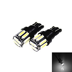 cheap LED Car Bulbs-T10 5W 300LM 6500K 10 x SMD 7020 LED Cool White Car Clearance Lamp / Side Light (12V /2PCS)