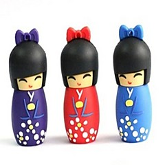 16GB USB disk Artoon  The Japanese Doll 2.0 Flash drive Pen Drive
