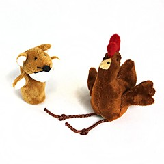 Finger Sleeve Chicken + Fox Plush Doll(2 Pcs)