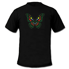billige Originale LED-lamper-LED-T-shirts Lydaktiverede LED-lys Tekstil Stilfuld 2 AAA Batterier