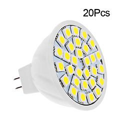 2W GU5.3 (MR16) LED-spotlampen 30 leds SMD 5050 Warm wit Koel wit 150-200lm 3500/6000K DC 12V
