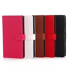 إلى نوكيا حالة محفظة / حامل البطاقات / مع حامل غطاء كامل الجسم غطاء لون صلب قاسي جلد اصطناعي NokiaNokia Lumia 1520 / Nokia Lumia 1320 /