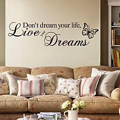 cheap Wall Art-Words & Quotes Wall Stickers Plane Wall Stickers Decorative Wall Stickers, PVC Home Decoration Wall Decal Wall