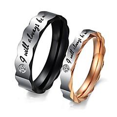Κρίκοι Πετράδια σχετικά με τον μήνα γέννησης Γάμου / Πάρτι / Καθημερινά / Causal / Αθλητικά Κοσμήματα Τιτάνιο Ατσάλι ΓυναικείαΔαχτυλίδια