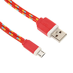 Micro USB Weaving Noodle Charger Cable Phone Cables & Adapters