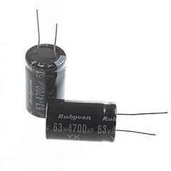 abordables Condensadores Eléctricos-condensadores electrolíticos 4700uF 63V (2 unidades)