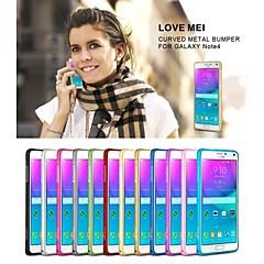 Na Samsung Galaxy Note Ultra cienkie Kılıf Bumper Kılıf Jeden kolor Metal Samsung Note 4