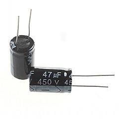 abordables Condensadores Eléctricos-condensador electrolítico 47uF 450V (5pcs)