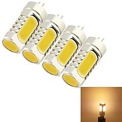 preiswerte LED-Birnen-YouOKLight 4pcs 5W 400-450 lm G4 LED Mais-Birnen T 4 Leds COB Dekorativ Warmes Weiß Wechselstrom 12V DC 12V