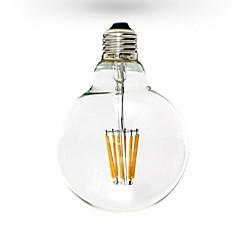 tanie Żarówki LED-1szt 6W 600 lm E26/E27 Żarówka dekoracyjna LED G125 6 Diody lED COB Przysłonięcia Ciepła biel AC 110-130V AC 220-240V