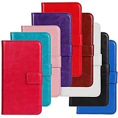 tanie Inne etui / pokrowce do Samsunga-Kılıf Na Samsung Galaxy Samsung Galaxy Etui Etui na karty Z podpórką Flip Pełne etui Solid Color Skóra PU na Trend Lite