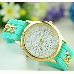 preiswerte Tolle Angebote auf Uhren-Geneva Damen Armband-Uhr Quartz Schlussverkauf Silikon Band Analog Süßigkeit Freizeit Modisch Schwarz / Weiß / Blau - Rosa Hellblau Leicht Grün