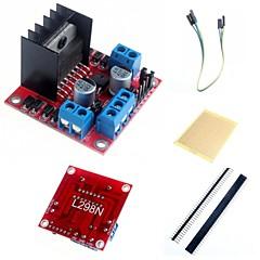 듀얼 H 브리지 스테퍼 모터 드라이버 컨트롤러 보드 모듈과 아두 이노 액세서리 L298N