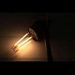 cheap LED Bulbs-ONDENN 5pcs 2800-3200 lm E12 LED Filament Bulbs CA35 4 leds COB Dimmable Warm White AC 110-130V