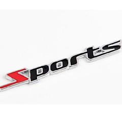 hesapli -Metal harfler spor araba çıkartmaları