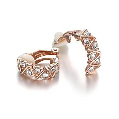 preiswerte Ohrringe-Damen Kristall Klips - Krystall, Zirkon, Kubikzirkonia Silber / Golden Für Hochzeit Party Alltag / vergoldet