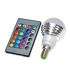 E14 LED Küre Ampuller led Uzaktan Kumandalı RGB 300 AC 100-240V