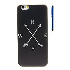 voordelige iPhone 6s hoesjes-Voor iPhone 6 hoesje / iPhone 6 Plus hoesje Patroon hoesje Achterkantje hoesje Zwart & Wit Zacht TPU iPhone 6s Plus/6 Plus / iPhone 6s/6