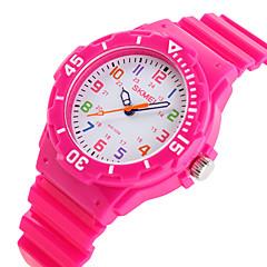 preiswerte Herrenuhren-SKMEI Armbanduhr Armbanduhren für den Alltag Caucho Band Süßigkeit / Freizeit / Modisch Schwarz / Blau / Orange / Zwei jahr / Maxell626 + 2025