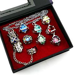 Mücevher Esinlenen Reborn! Cosplay Anime Cosplay Aksesuarları halka Gümüş Alaşım Erkek / Kadın