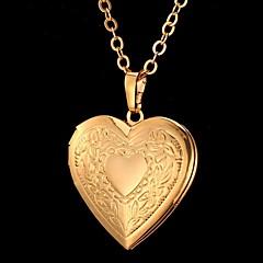 Női Nyaklánc medálok Heart Shape Flower Shape Szerelem Divat Vésett jelmez ékszerek Ékszerek Kompatibilitás Különleges alkalom Születésnap