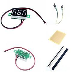 お買い得  ディスプレー-0.36「LED 2ライン3デジタルの直流電圧計メーターモジュールとArduinoのためのアクセサリー