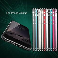 Для Кейс для iPhone 6 / Кейс для iPhone 6 Plus Ультратонкий Кейс для Бампер Кейс для Один цвет Твердый АлюминийiPhone 6s Plus/6 Plus /