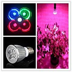 5W E26/E27 LED-vækstlampe MR16 3 leds Højeffekts-LED 450-550lm Naturlig hvid Grøn Rød Blå Vekselstrøm 85-265
