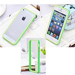 Недорогие Кейсы для iPhone-Кейс для Назначение iPhone 5 Apple Кейс для iPhone 5 Защита от удара Бампер Сплошной цвет Твердый Силикон для iPhone SE/5s iPhone 5