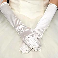 Недорогие Женские украшения-Сатин До плеча Перчатка Вечерние перчатки