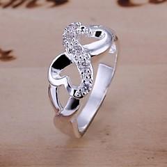 preiswerte Ringe-Damen Statement-Ring - versilbert, Diamantimitate Unendlichkeit Luxus 6 / 7 / 8 Für Hochzeit / Party / Alltag / Zirkon