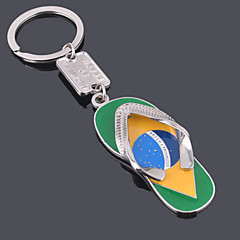 Unisex Alloy Casual Fashion Slippers Key Chains