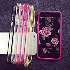 olcso iPhone 5S / SE tokok-Kompatibilitás iPhone 8 iPhone 8 Plus iPhone 7 iPhone 7 Plus iPhone 6 iPhone 6 Plus iPhone 5 tok tokok Átlátszó Védőkeret Case Tömör szín