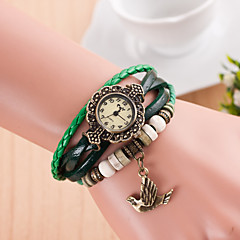 preiswerte Damenuhren-Damen Armbanduhr Quartz PU Band Freizeit Schwarz - Grün Hellblau Königsblau
