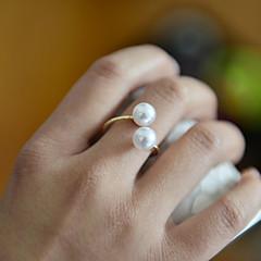 preiswerte Ringe-Damen Bandring - Perle damas, Ohne Verschluss Schmuck Golden Für Hochzeit Party Alltag Normal Sport Verstellbar