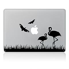 el diseño del cisne adhesivo decorativo para macbook air / pro / pro con pantalla de retina