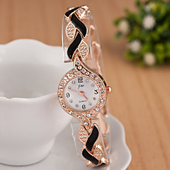 hesapli Saat Fırsatları-yoonheel Kadın's Sahte Elmas Saat Bilek Saati Bilezik Saat Moda Saat Quartz imitasyon Pırlanta Metal Bant Işıltılı Zarif Siyah Beyaz Mavi