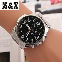 preiswerte Tolle Angebote auf Uhren-Damen Quartz Armbanduhr Armbanduhren für den Alltag Legierung Band Kleideruhr Elegant Modisch Silber