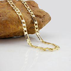 Ожерелье Ожерелья-цепочки Бижутерия Свадьба / Для вечеринок / Повседневные Мода Позолота Серебряный 1шт Подарок