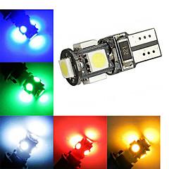 preiswerte LED-Birnen-2W 150 lm T10 Lichtdekoration 5 Leds SMD 5050 Dekorativ Kühles Weiß Grün Gelb Blau Rot DC 12V