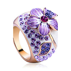 cheap Rings-Women's Crystal Statement Ring - Alloy Flower Ladies, Luxury, Fashion One Size For Party
